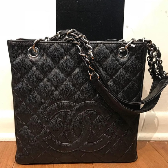 ba89a64342b CHANEL Bags | Petite Shopping Tote Pst | Poshmark